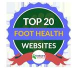 top 20 foot health websites