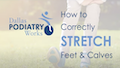 stretches for you calfs, feet, lower body